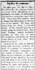 Shreveport (La.) Daily News, July 4, 1861 (Chronicling America).
