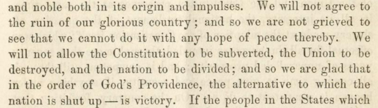 """Excerpt from Breckinridge's """"The Civil War: Its Nature and End"""" (1861)."""